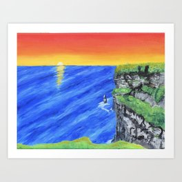 Cliffs of Moher by Brianne Downes Art Print
