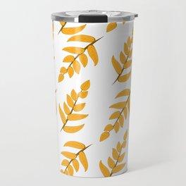 Orange leaves and branches Travel Mug