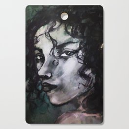 Casey (Grey Portrait) Cutting Board