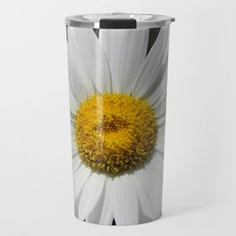 Contemporary White Daisy on Grey Pop Of Yellow Art A490 Travel Mug