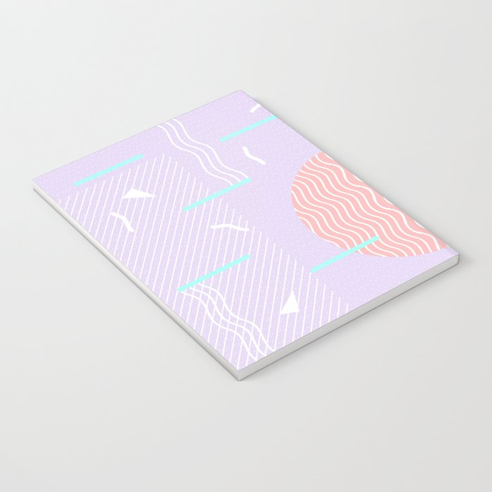 Memphis Summer Lavender Waves Notebook