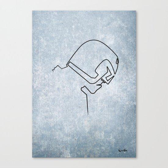 One line Dredd Canvas Print
