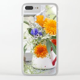Natural flowers at the window Clear iPhone Case