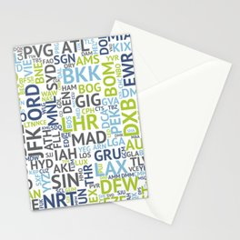 Airport Codes Stationery Cards