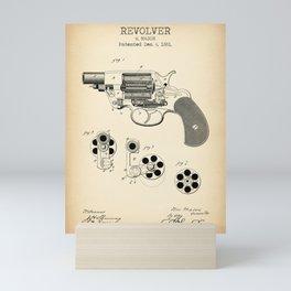 Revolver Vintage Patent Image Mini Art Print