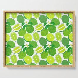 Lime Harvest Serving Tray