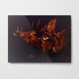 Duelling bull moose duo Metal Print