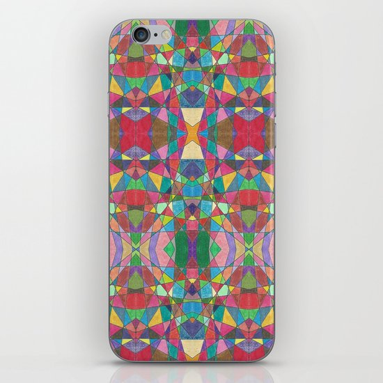 Criss Cross Colorful iPhone & iPod Skin