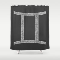 gemini Shower Curtains featuring Gemini by David Zydd