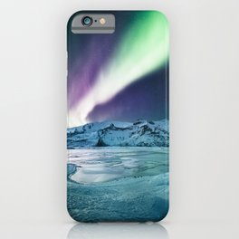 aurora in iceland iPhone Case