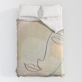 Abstract Female - Gentle Thoughts Comforters