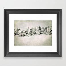 Snow time. Vintage Framed Art Print