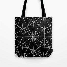 Abstract black white minimalist geometric pattern Tote Bag