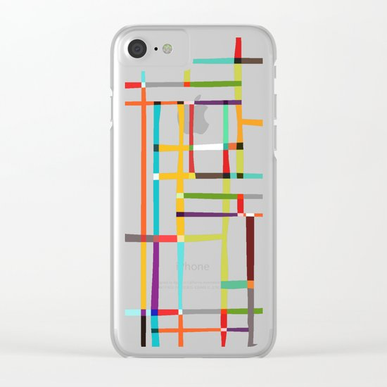 The map (after Mondrian) Clear iPhone Case