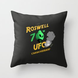 70th Anniversary Commemorative Graphic Throw Pillow