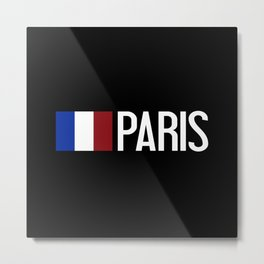 France: French Flag & Paris Metal Print
