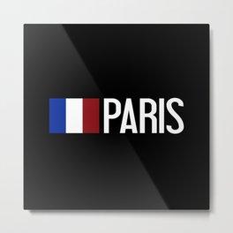 France: French Flag & Paris Metal Print