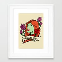 poison ivy Framed Art Prints featuring Poison Ivy by Buby87