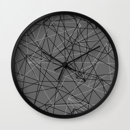 abstract lines Wall Clock