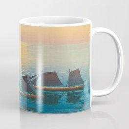 Glittering Sea (Hikaru Umi) Hiroshi Yoshida Modern Japanese Woodblock Print Coffee Mug