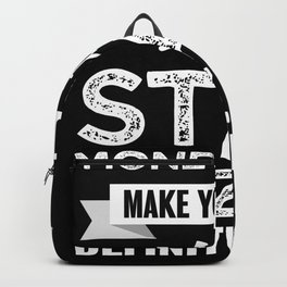 Stargazing makes you happy Funny Gift Backpack