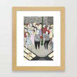 Romantic Mimes Framed Art Print