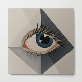 eye in pyramid Metal Print