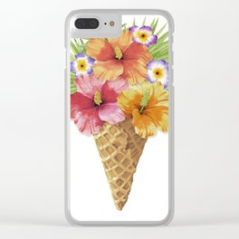 Tropical Cone Clear iPhone Case