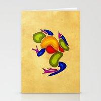 frog Stationery Cards featuring Frog by Aleksandra Mikolajczak