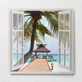 Paradise Beach | OPEN WINDOW ART Metal Print