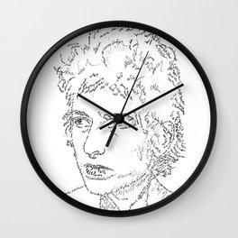 Bob Dylan WordsPortrait  Wall Clock