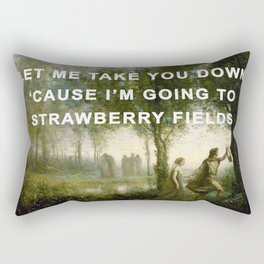 Orpheus Leading Eurydice to Strawberry Fields Rectangular Pillow