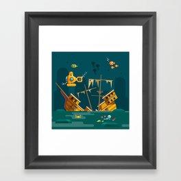 Looking for underwater treasure Framed Art Print