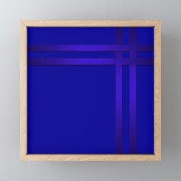 Cobalt blue Framed Mini Art Print