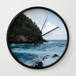 Cliffside Ocean View Wall Clock