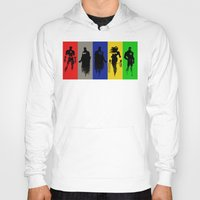 justice league Hoodies featuring Justice Silhouettes by iankingart