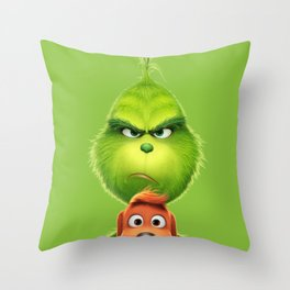 Grinch Throw Pillow