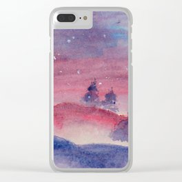 Hazy Winter Clear iPhone Case