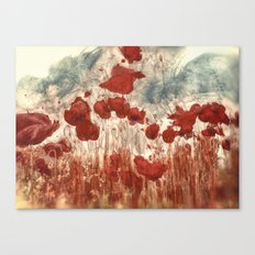 Campo de amapolas Canvas Print