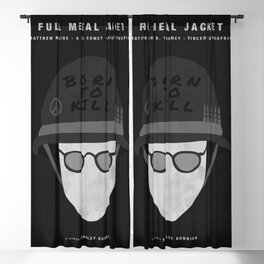 Full Metal Jacket, 1987 (Minimalist Movie Poster) Blackout Curtain