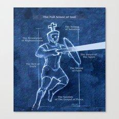 Full Armor of God - Warrior 3 Canvas Print