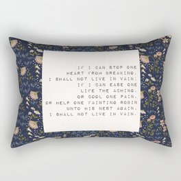 I shall not live in vain - E. Dickinson Collection Rectangular Pillow