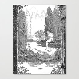 Le Jardin Secret Canvas Print