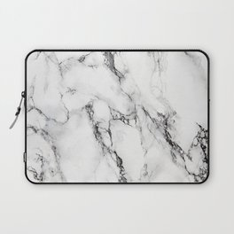 White Marble Texture Laptop Sleeve