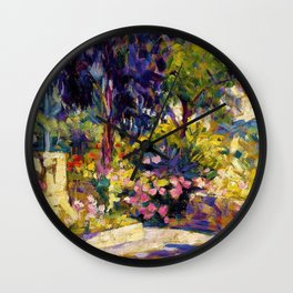 Henri Edmond Cross - The Flowered Terrace - Digital Remastered Edition Wall Clock