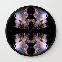 cosmos Wall Clocks featuring Cosmos by Spooky Dooky
