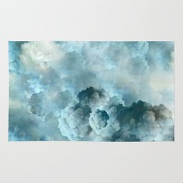 """Cotton clouds blue Heaven"" Rug"