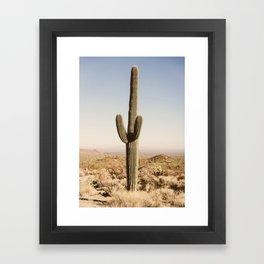 Giant Desert Cactus Framed Art Print