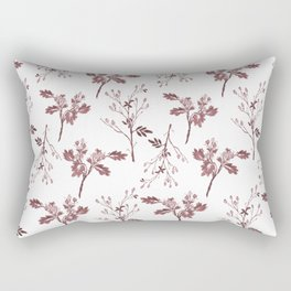 Sepia Christmas Berries Pattern Rectangular Pillow