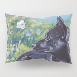 beautiful Australian Kelpie dog art from an original painting by L.A.Shepard Pillow Sham